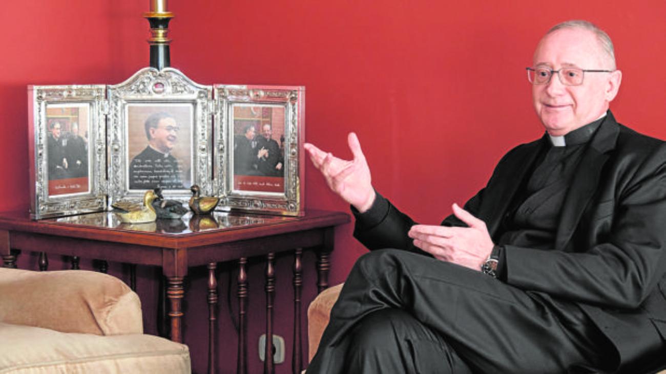 El vicario del Opus Dei Ignacio Aparisi, durante la entrevista realizada en Valladolid - F. HERAS