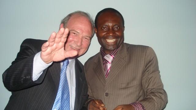 Con mi amigo Fernando, guineano
