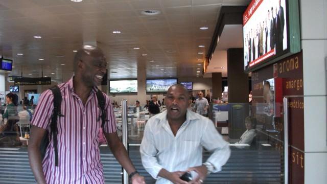 Bertín (camerunés) y Tulio (brasileño)