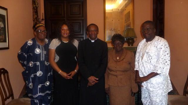 Con mi familia en Villa Tevere antes de la primera Misa