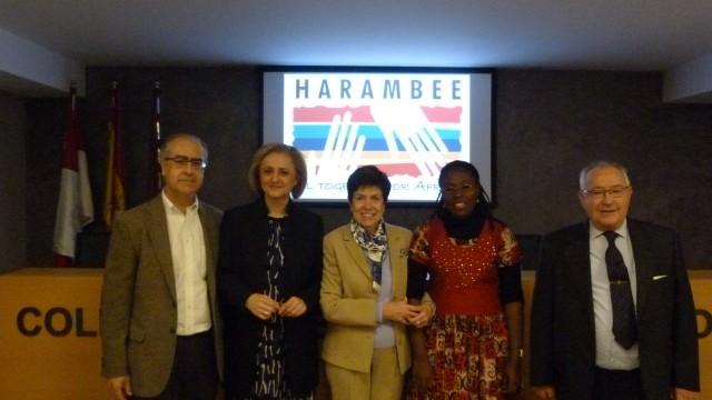 de izda a dcha José Manuel Marugán, Rosa Hernández, Josebe Soga, Vanessa Koutouan y José Rabadán