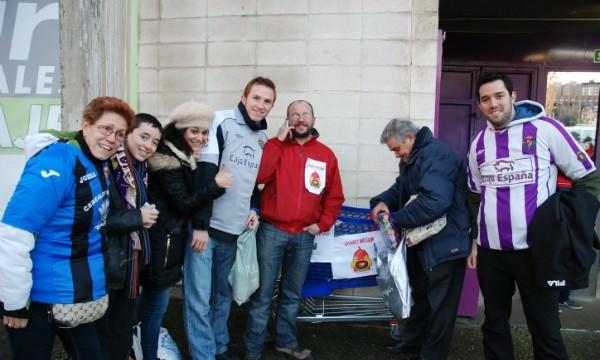 El Real Valladolid invitó a los espectadores a ser generosos con el Proyecto de Family Mission.